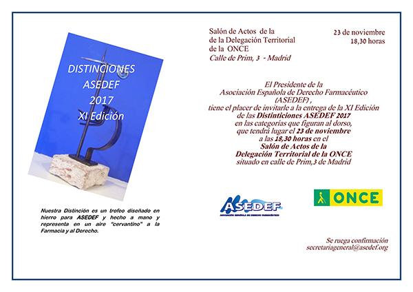 Distinciones ASEDEF 2017